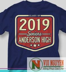 Mẫu áo thun đồng phục trẻ trung 2019 Mã AT054